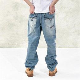 Preço da calça jeans on-line-Jeans de atacado Hip Preço de alta qualidade Hop Mens Calças de ganga largas clássico Moda soltas Denim Pants Z1183 Homens
