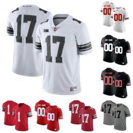 Wholesale Personalizado Ohio State Buckeyes jerseys personalizado feito especialmente QUALQUER nome número Justin Fields costurado COSTUME faculdade futebol uniforme