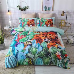 conjuntos de cama ocidentais Desconto BEST.WENSD 11 Inverno Super macio e confortável cama Ocidental Única cama de casal 3D folhas de Outono cat Quilt define ropa de cama