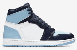 estrellas de baloncesto Rebajas Los nuevos zapatos de alta OG 1 UNC Patente WMNS ASG Obsidiana Blue Chill blanca Hombres Mujeres Baloncesto 1s Juego de Estrellas de las zapatillas de deporte con la caja
