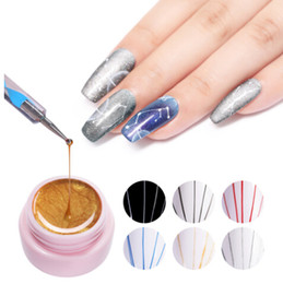 Linee di pittura online-5ml Spider Gel Creativo Disegno a filo Nail Gel Lacca Point To Line Pittura Gel Polish Pulling Silk Spider Nail Art