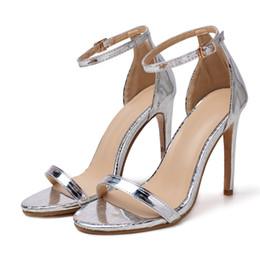 sandalias de tacón alto sexy para mujer Rebajas 2019 Verano para mujer sexy para mujer Tacones altos Banquete de boda Zapatos de baile Diseñador nocturno Clásicos Sandalias Zapatillas de mujer 35-42