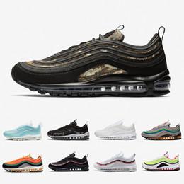 belle scarpe da ginnastica nere Sconti nike Air Max 97 airmax 97 shoes New Air Black UL Cuscino Donna Uomo Running Scarpe da ginnastica Gym rosso Bianco Arancio Dallas Panda Pigeon Sneakers sportive da esterno