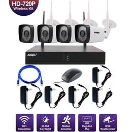 4ch WiFi беспроводная система безопасности камеры NVR 720P ночного видения ИК-Cut CCTV Главная камеры видеонаблюдения комплект водонепроницаемый от Поставщики камеры наблюдения системы безопасности