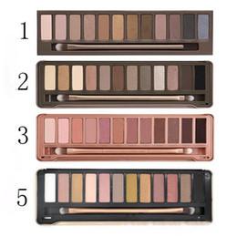 2019 niedrige lidschattenpalette Makeup Hot Style Lidschatten-Palette Vier Niedrigster Preis Hot New Makeup 12 Farbe NUDE mix # 1.2.3.5 Lidschatten / Lidschatten-Palette rabatt niedrige lidschattenpalette