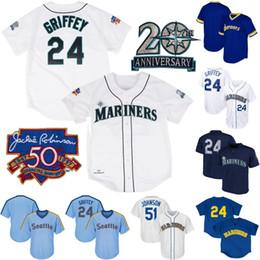 a04a9728a Seattle 24 Ken Griffey Jr. 51 Randy Johnson Mens Womens Youth 1997 Ken  Griffey Jr. Mariners Retro Baseball Jerseys Free Shipping