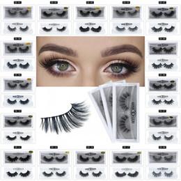 Charmes faits à la main en Ligne-3d vison cils épais maquillage fait à la main faux cils naturel long charme extension de cils 17 styles