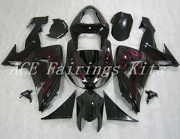 black purple motorcycle fairings Promo Codes - High quality New ABS motorcycle fairings kits fit for kawasaki Ninja ZX10R 2006 2007 ZX-10R 06 07 bike fairing kits black Purple flame
