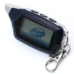 Rus sürüm C9 2-way starline için Anahtar Fob anahtarlık C9 lcd Uzaktan Kumanda iki yönlü araç alarm sistemi alarm oto Marş için cheap way lcd car alarm nereden yol lcd araba alarmı tedarikçiler