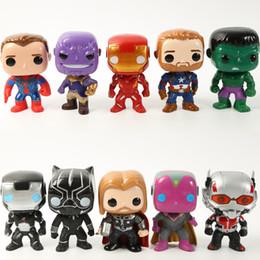 Regalos 10pcs / set acción Justicia DC figura Liga Marvel Avengers súper héroe Caracteres vinilo figuras de acción de juguete para niños desde fabricantes