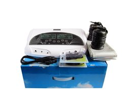 Envío gratis Dual Foot Detox Spa Dual Lonic Cleanse Máquina de desintoxicación Foot Spa Instrument Body Health Detox Spa Salon Machine desde fabricantes