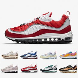 98 zapatos para correr  Rebajas air max 98 airmax Gym Red 98 mens running shoes South Beach Gundam Barely Rose Gold Easter 98s Walking men women trainers outdoor sports sneakers 36-45