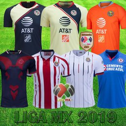 2ed38c0f94a 2019 Club America A18 CHAMPION Liga MX-Trikots Chivas de Guadalajara Cruz  Azul Fußballtrikots Xolos de Tijuana Tigers Erwachsene Hemden rabatt jersey  cruz