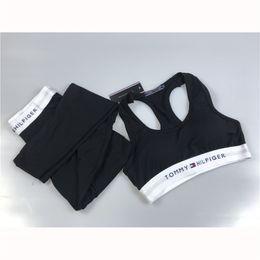 Marke sexy frauen hose online-Modemarke Frauen Fitness Sets mit Brief drucken Sexy Frauen Yoga Hosen Sport Style Outfits Hosen für Laufübungen