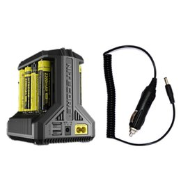 100% originale Nitecore I8 8 Slot Intellicharger universale E Cig caricatore per 18650 26650 10440 14500 batteria da