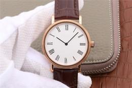 reloj de cocodrilo de lujo Rebajas Nueva serie clásica reloj de lujo automático ultrafino correa de cuero de cocodrilo de perla excéntrica tuo núcleo de lujo