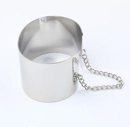 nuevo tipo de brazaletes Rebajas 2015 NUEVO Wide Metal Bangle Link Chain Open Type Pulsera Cuff Bangles Street Punk Style pulseiras de ouro para Mujeres # 1289 # B292