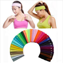 a0f8aef1fa921 farbe laufen stirnband Rabatt Yoga Stirnband Candy Farbe Turban Run Schweiß  Headwrap Sport Elastisches Haarband Stretch