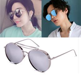 2019 marca coreana degli occhiali da sole degli uomini Occhiali da sole polarizzati vintage rotondi di marca coreana uomini donne occhiali da sole classici con lenti di rivestimento colorato UV400 Gafas De Sol marca coreana degli occhiali da sole degli uomini economici