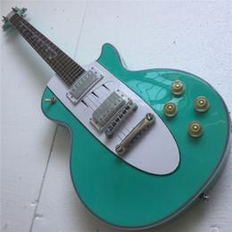 2020 guitarra do céu Frete Grátis Qualidade Custom 1960 Sky Blue Corvette Inlay Guitarra Elétrica guitarra do céu barato