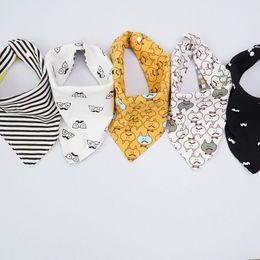 2019 grossista bibs de plástico para bebês (1 PCS) babadores de algodão de alta qualidade Burp Cloths Moda Animal Print babadores bandana babadores babadores SH190916