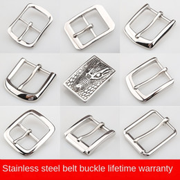 stainless steel 304 men s high end casual pin buckle clip head Pin belt belt smooth buckle