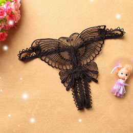 Erotischer schlupf online-DIDI Sexy frauen Hosen Tanga Stickerei Schmetterling Form Offene Gabelung Erotische Höschen Frauen G-strings Slip Unterhosen 2012