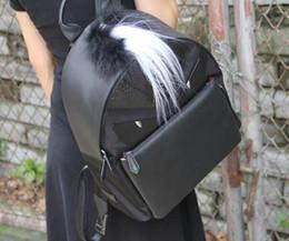 college-schule taschen für mädchen Rabatt 2019 New Echtes Leder Monster Look Feder Dekoration Handtasche Retro College Wind Schultaschen Für Mädchen Im Teenageralter Designer Rucksäcke
