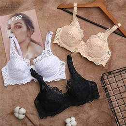 2019 tamanho 48 sutiã Bras Lace For Women Sexy Lingerie Plus Size Bra Feminino B C Cup Roupa interior das senhoras da alta qualidade Tamanho Grande Brassiere tamanho 48 sutiã barato