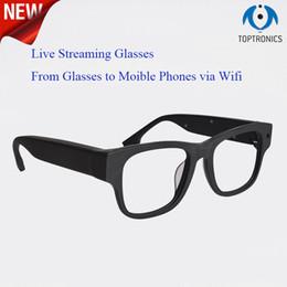 Gläser online-Hochwertige Fernbedienung Wifi Wireless Video p2p Globale Echtzeit-Live-Streaming-Smart-Brille-Kamera mit hoher Kompressionsbrille