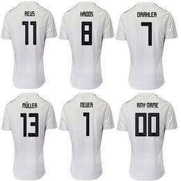 Deutschland einheitliche fußball online-2019/2020 Deutschland Nationalmannschaft Fußball Trikots Trikots REUS MULLER KROOS DRAXLER Uniformen Fußball Trikots Trikots für Männer anpassen