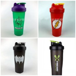Plastikschüttlerbecher online-Hero Series Outdoor Shaker Wasserflasche Camping Und Wandern Plastikbecher High End Tumbler Mulit Farbe Heißer Verkauf 6sj E1