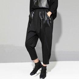 Mode 2019 Printemps Nouvelles Femmes Flat Casual Longueur Pantalon Pantalon Couleur Patchwork Poche Sarouel Sarouel ? partir de fabricateur