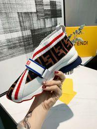 2019 фирменные женские ткани высокие кеды сапоги дизайнер леди резиновая подошва кроссовки жаккардовые стрейч вязать спортивные полосы носок кроссовки от
