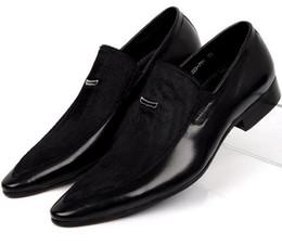 2019 grandi scarpe da uomo CLORISRUO Large size EUR45 Scarpe da uomo in pelle scamosciata nere in vera pelle da uomo scarpe da sera eleganti da uomo sconti grandi scarpe da uomo