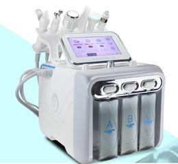 cepillo de alta frecuencia Rebajas 6in1 H2O2 Hydra Dermabrasion RF Bio lift Spa Máquina Facial Hydro Microdermabrasion Máquina Facial agua cáscara de agua Martillo Frío