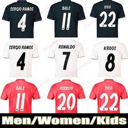 baa84740e8f New Kids Soccer Jersey Maillot 2019 Real Madrid away blue Soccer shirt 2018  MODRIC ASENSIO VINICIUS JR ISCO KROOS Football uniform camisetas