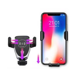 C12 Kablosuz Araç Şarj 10 W Hızlı Kablosuz Şarj Araç Montaj Hava Firar Yerçekimi Telefon Tutucu iphone samsung tüm Qi Cihazlar için Uyumlu nereden