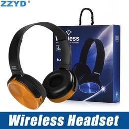 Fones de ouvido de cabeça on-line-ZZYD 450BT Fones de Ouvido Sem Fio Bluetooth Gaming Headset Stereo Player de Música Retrátil Headband Surround Stereo Fone de Ouvido com Microfone Para PC Sm