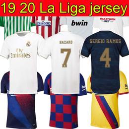 Mejores uniformes online-19 20 camiseta de fútbol de la liga TOP camiseta de fútbol hombre mejor calidad 2019 2020 HOME AWAY uniformes de camiseta de fútbol