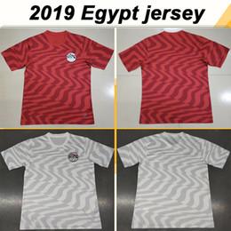 Ägyptenhemden online-2019 Ägypten M. SALAH KAHRABA Fußballtrikots Hohe Qualität Nationalmannschaft Home Red Away Weiß M.SALAH A. HEGAZI Herren-Fußballhemden Uniformen
