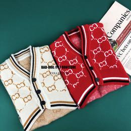 vestiti di chihuahua maschile Sconti Abbigliamento per cani abbigliamento autunnale e invernale maglione cardigan grande cardigan schnauzer legge Teddy Bomei Bago abbigliamento per animali domestici gatto