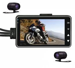 Cámara grabadora de motocicleta DVR Motor Dash Cam con especial doble pista Parte delantera trasera Grabadora Motor Motor DVR con doble mini cámara desde fabricantes