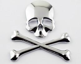 Motosiklet Krom Metal 3D Kafatası Kemik Gaz Tankı Fairing Decal Sticker nereden kafes kafatası tedarikçiler