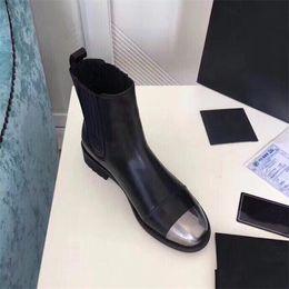 Leder schwer online-Heavy Craft Doppelreißverschluss schwarze Stiefeletten, Persönlichkeit Dünne Beine Biker Stiefeletten Lady Plateauschuhe für Party Lovers Leather Boot