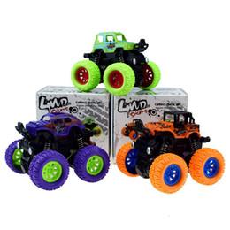 2019 bus jouet vert modèle de voiture Cute Plastic Cars Toy Cars pour enfant Roues Mini CarFour-drive inertiel suv simulation stunt bascule voiture jouet