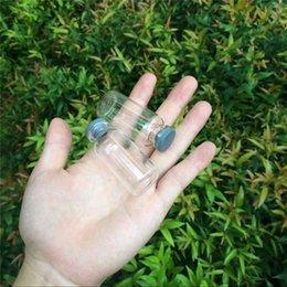 Flaconi di vetro tappi in gomma online-Bottiglie di vetro da 20 ml con le bottiglie della gomma di silicone Tappo Vasi Fiale per Liquid ermetiche Bottiglie 100pcs