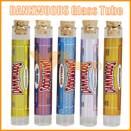 rolled stickers Coupons - DANKWOODS Empty Glass Tube Wood Cork Tips Cartridges Dry Herb Herbal RAW Pre-roll With Flavors Stickers E Cigarettes Vapor Tubes