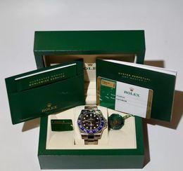 Con estuche original para hombres 40mm Perpetual 40mm GMT 116710 116710LN 116710Blnr Ceramic Steel Asia 2813 Movimiento Relojes automáticos para hombre desde fabricantes