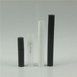 2/3/4 / 5ml Negro Claro Blanco Botella de aerosol de plástico Pequeño atomizador Botellas de perfume Botella de perfume de plástico de cuello de crimpar desde fabricantes